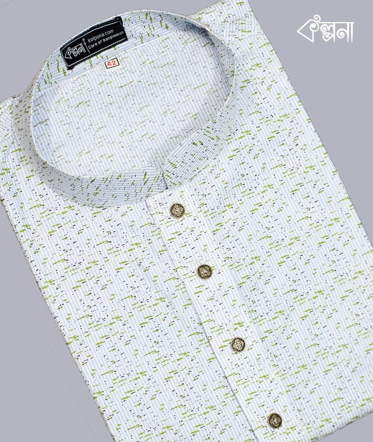 kolpona's cotton mixed punjabi